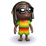 3d Rasta in sunglasses Stock Image
