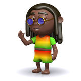3d Rasta waves hello Stock Image
