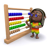 3d Rastafarian finds an abacus Stock Images