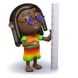 3d Rastafarian measures with a ruler Stock Photography