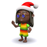 3d Rastafarian Santa Claus Royalty Free Stock Photos