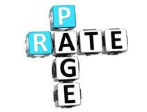 3D Rate Page Crossword su fondo bianco Immagine Stock Libera da Diritti