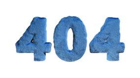404 3d reactie de code geeft van harige stijlbrieven terug royalty-vrije illustratie
