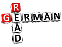 3D Read German Crossword. On white background Royalty Free Stock Photos