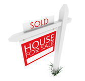 3d: Real Estate Sign: Home Sold Stock Photos