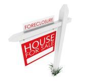 3d: Real Estate unterzeichnen: Haupt-Forclosure Lizenzfreie Stockfotos