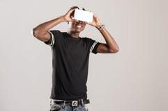 3D realidade virtual Simulatorz Imagem de Stock Royalty Free