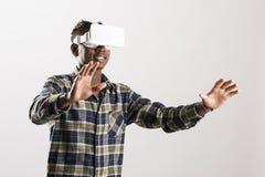 3D realidade virtual Simulatorz Imagens de Stock Royalty Free