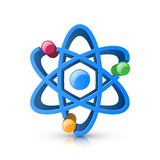 3d realistic atom icon on the white background. Vector eps 10 Stock Photography