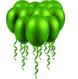 3d Realistic Colorful Balloon. Holiday illustration of flying glossy balloon Royalty Free Stock Photos