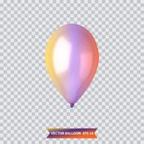 3d Realistic Colorful Balloon. Holiday illustration of flying glossy balloon. Vector Illustration. 3d Realistic Colorful Balloon. Holiday illustration of flying Stock Photo