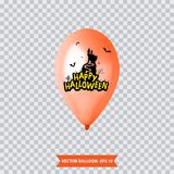 3d Realistic Colorful Balloon. Holiday illustration of flying glossy balloon. Vector Illustration Royalty Free Stock Photography