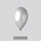 3d Realistic Colorful Balloon. Holiday illustration of flying glossy balloon. Vector Illustration. 3d Realistic Colorful Balloon. Holiday illustration of flying Royalty Free Stock Image