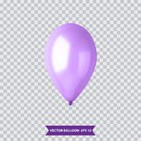 3d Realistic Colorful Balloon. Holiday illustration of flying glossy balloon. Vector Illustration. 3d Realistic Colorful Balloon. Holiday illustration of flying Royalty Free Stock Images