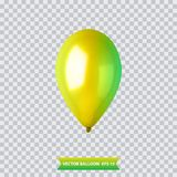 3d Realistic Colorful Balloon. Holiday illustration of flying glossy balloon. Vector Illustration. 3d Realistic Colorful Balloon. Holiday illustration of flying Royalty Free Stock Photos