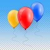 3d Realistic Colorful Balloon. Holiday illustration of flying glossy balloon. Vector Illustration.  Stock Images
