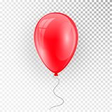 3d Realistic Colorful Balloon. Holiday illustration of flying glossy balloon. Vector Illustration.  Royalty Free Stock Photography