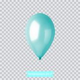 3d Realistic Colorful Balloon. Holiday illustration of flying glossy balloon. Vector Illustration Stock Photo