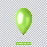 3d Realistic Colorful Balloon. Holiday illustration of flying glossy balloon. Vector Illustration. 3d Realistic Colorful Balloon. Holiday illustration of flying Stock Photos