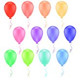 Collection of color balloons Royalty Free Stock Photos
