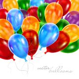 3d Realistic Colorful Balloons . Vector Illustration. Vector illustration of color balloons .Isolated in White Background Royalty Free Stock Photo