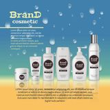3D realistic cosmetic bottle ads template. Cosmetic brand advertising concept design with water bubbles and waterdrops background Royalty Free Stock Images