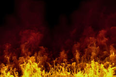 3d - realistic fire background Stock Photos