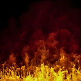 3d - realistic fire background Royalty Free Stock Image