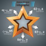 3d realistic icon. Business infographic. Vector eps 10 Royalty Free Stock Photography