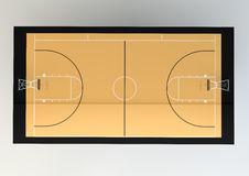 3d Realistic Illustration of Basketball Court Royalty Free Stock Photo