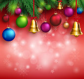 3D Realistic Merry Christmas Background Royalty Free Stock Images