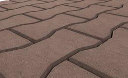 Render of brown lock paving texture. Stock Photo