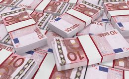 10 Euro Money. euro cash background. Euro Money Banknotes. 3D realistic render of 10 Euro Money. euro cash background. Euro Money Banknotes Royalty Free Illustration