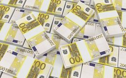 200 Euro Money. euro cash background. Euro Money Banknotes. 3D realistic render of 200 Euro Money. euro cash background. Euro Money Banknotes vector illustration