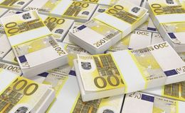 200 Euro Money. euro cash background. Euro Money Banknotes. 3D realistic render of 200 Euro Money. euro cash background. Euro Money Banknotes royalty free illustration