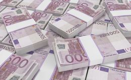 500 Euro Money. euro cash background. Euro Money Banknotes. 3D realistic render of 500 Euro Money. euro cash background. Euro Money Banknotes stock illustration