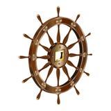 3d_ship_steering_wheel royalty free illustration