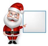 3D realistische Santa Claus Cartoon Character für Weihnachten Lizenzfreie Stockfotos
