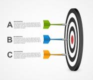 3d realistycznego pojęcia szablonu infographic cel z strzałkami 10 tło projekta eps techniki wektor Obrazy Stock