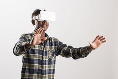 3D realtà virtuale Simulatorz Immagini Stock Libere da Diritti