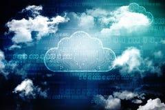 2d rechnende Wiedergabe Wolke, Wolken-Datenverarbeitungskonzept Lizenzfreies Stockbild