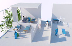 3D reconstruction of a hospital Stock Photos