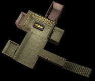 3d reconstruction of the tomb of Pharaoh Tutankhamen and secret rooms Stock Photo