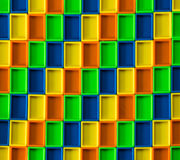 3D Rectangle Color Pattern Royalty Free Stock Photos