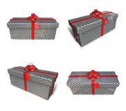 3D rectangular gift box set plaid. 3D Icon Design Series. Stock Images