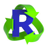 3d Recycle arrows Royalty Free Stock Photography