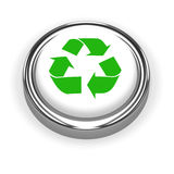 3d Recycle button Royalty Free Stock Image
