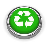3d Recycle button Stock Image