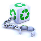 3d Recycle dice shackle Royalty Free Stock Images
