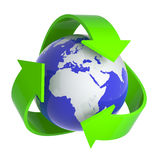 3d Recycle earth symbol Royalty Free Stock Photos